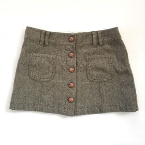 American Eagle Tweed button skirt